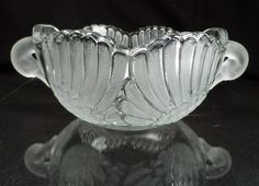 Swan Handle Glass Bowl-Mikasa Walther Glass Centerpiece Swans Head Handles with Feather Wings Sides GERMANY by BCScollectibles on Etsy