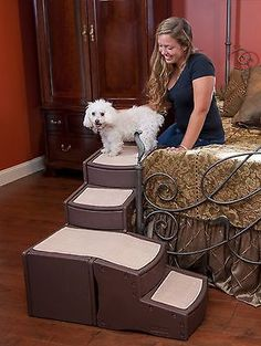 NEW Pet Gear Easy Steps Dog Cat Bed Stair PG9760CH