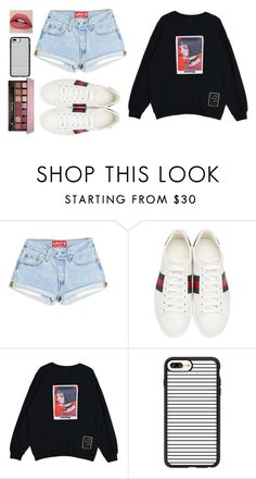 """""""Mathilda Sweatshirt"""" by ac-4am on Polyvore featuring Gucci, Casetify and Anastasia Beverly Hills"""