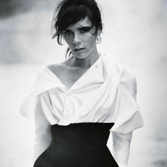 Timeless monochrome beauty: Victoria Beckham for VOGUE Germany November 2015 photo: Boo George.