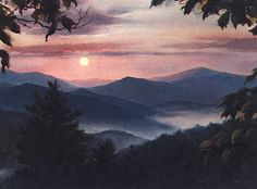 View from Pine Mountain looking towards Wears Valley The Official Jim Gray Gallery Website Mountain Art, Pine Mountain, Gallery Website, Watercolor Landscape Paintings, Mountain Paintings, Great Smoky Mountains, Pictures To Paint, Beautiful Paintings, American Artists