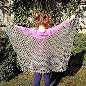 Ravelry: Three Quarter Granny Shawlette pattern by Elizabeth Peat