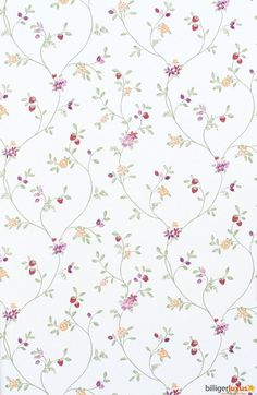 Wallpaper Rasch Blooming Garden satin wallpaper 001177 flowers white green Wallpapers Rasch Textil Blooming Garden: