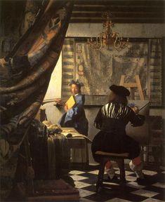 絵画芸術 (De schilderkunst) 1666~1667年頃 120×100cm 油彩・画布 ウィーン美術史美術館