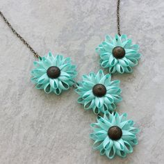 Long Necklace, Large Statement Necklace, Chunky Necklace, Mint Green, Custom Color, Turquoise Necklace, Fashion Jewelry, Necklaces for Women