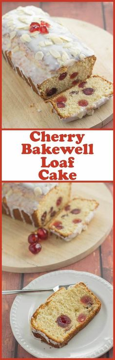 Cherry bakewell loaf cake is an easy and delicious budget cake with all the flavours of a bakewell tart. Topped with a layer of icing sugar this butter free cherry sponge cake recipe is perfect for sharing with friends! Easy Cupcake Recipes, Dessert Recipes, Fun Desserts, Cherry Bakewell Cake, Almond Torte, Cupcakes, Let Them Eat Cake, Tray Bakes, Recipes