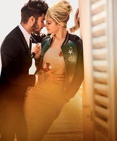 That's Amore (American Vogue)   Mario Testino - Photographer Camilla Nickerson - Fashion Editor/Stylist Michael Philouze - Fashion Editor/Stylist Odile Gilbert - Hair Stylist Lucia Pica - Makeup Artist Jack Flanagan - Set Designer Zayn Malik - Entertainer Gigi Hadid - Model