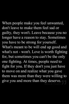*it's not that what you were giving them was more than they deserved, it's that they weren't giving you what you deserved