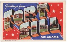 Fort Sill, Oklahoma.  Where we lived after getting married in June 1968.  Yes, married an army soldier who served in Vietnam Nam.
