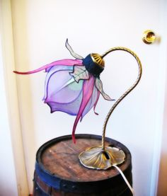 Color Changing LED Silk Lily Lamp by littlewingfaerieart on Etsy, $195.00
