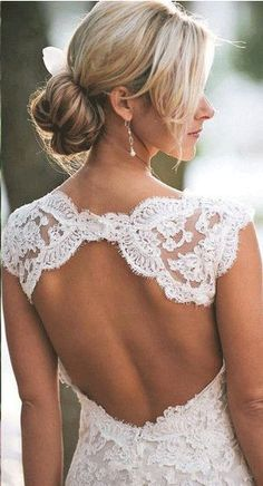 US$116.70-Beautiful Country Cap-sleeved V-neck Long Lace Wedding Dress with Open Back. http://www.junebridals.com/country-cap-sleeved-v-neck-long-lace-dress-with-keyhole-back-pBU_708727.html. Free Custom-made & Free Shipping! Shop lace wedding dress, strapless wedding dress, backless wedding dress, with sleeves, mermaid wedding dress, plus size wedding dress, We have great 2016 best Wedding Dresses on sale at #JuneBridals.com today!