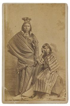 Photo Detail - Albumen cabinet card by Carter's Photograph Gallery - American Indian Brave and Squaw Native American Images, Native American Beauty, Native American Tribes, Native American History, After Life, Native Indian, Pics Art, First Nations, American Clothing