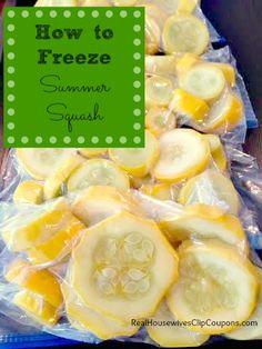 How to Freeze Squash (Yellow Squash or Zucchini)