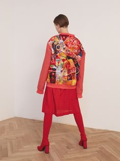 One-of-a-kind embroidered jackets by Lisa Smirnova Bright Jacket, Boys Wearing Skirts, Embroidered Jacket, Modern Embroidery, Needle And Thread, Vera Bradley Backpack, Costume Design, Textile Design, Industrial Style