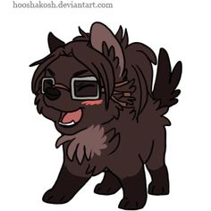 OMG CHIBI WOLF HANJI <<< WHY IS THIS A THING AND WHY IS IT SO ADORABLE?!?!?!