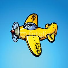 Toy Airplane. Vector drawing