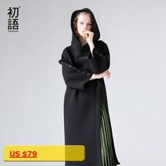 Toyouth 2018 Spring Fashion Long Sweater Dress Casual Hooded Letters Embroidery Dress Side Loose Slit Long Sleeves Lady Dress