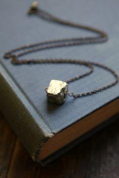 Pyrite Cube Necklace #ACommonThread #cargoh $25