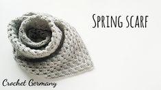 코바늘 봄 스카프 (독일 코바늘 패턴 스페셜 영상 :) Crochet spring scarf Crochet Scarves, Crochet Shawl, Crochet Backpack, Spring Scarves, Crochet Videos, Knitting, Hats, Pattern, Fashion