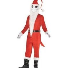 The Nightmare Before Christmas Mens Sandy Claws Costume includes: Jacket Pants Mask Gloves Boot covers Officially licensed Disney Tim Burton's The Nightmare Before Christmas costume. More on The Nightmare Before Christmas Mens Sandy Claws Costume: Bring Christmas to Halloween Town in The Nightmare Before Christmas Sandy Claws Costume for men! The costume includes a Santa jacket pants a Jack Skellington mask gloves and boot covers. Accessorize this Jack Skellington costume with a bag of toys Nightmare Before Christmas Costume, Christmas Costumes, Christmas Eve Appetizers, Christmas Parties, Jack Skellington Costume, Halloween Town, Tim Burton, Claws, Gloves