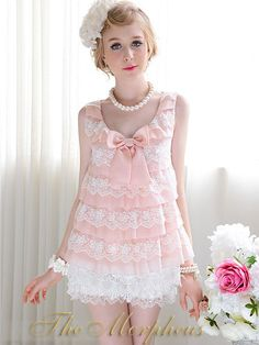 Morpheus Boutique  - Pink Layer Lace Bow Sleeveless Ruffle Top , $39.99 (http://www.morpheusboutique.com/products/pink-layer-lace-bow-sleeveless-ruffle-top.html)
