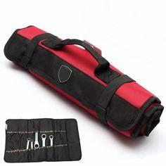 Tool Bag Shoulder Bag Handbag Tool Plier Screwdriver Pocket Roll Bag / Case / Pouch 22 Pockets Holder Bag