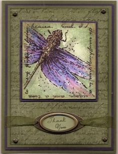 Drangonfly Thank-you using Stampin Up Measure of Life