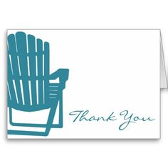 Adirondack Chair Thank You Greeting Card