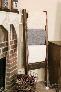 This DIY blanket ladder makes a cozy addition to any living room. See how we made it in just 6 steps.