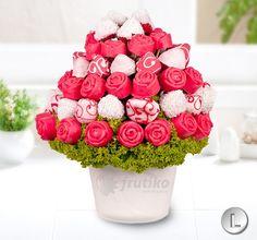 Kytice z růží z ovoce a čokolády od Frutiko.cz