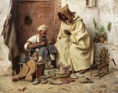 Jean Discart (French, 1856-1944) The cobbler, Tangiers
