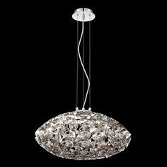 Eurofase Grace 23.5-in W Nickel Pendant Light with Metal Shade