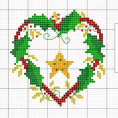 Free Christmas DMC cross stitch charts using DMC Embroidery Floss, Light Effects and Satin thread.