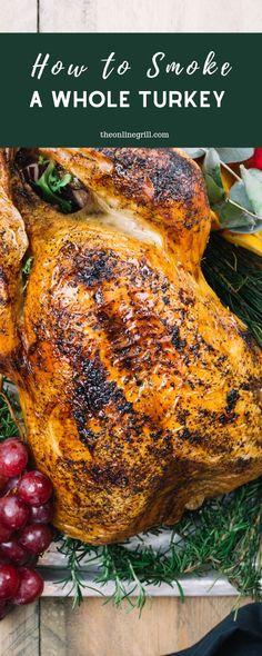 From best woods to cooking times to target temperatures here's everything you ne… From best woods to cooking times to target temperatures here's everything you need to know for smoking your next turkey. Barbecue Recipes, Grilling Recipes, Lunch Recipes, Dinner Recipes, Healthy Recipes, Vegetarian Grilling, Healthy Grilling, Barbecue Sauce, Smoker Recipes