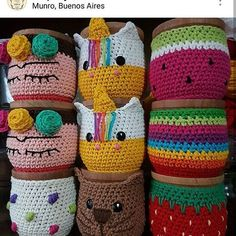 Knitting hat loom free pattern ideas for 2019 Crochet Scarf Easy, Crochet Hooks, Kawaii Crochet, Crochet Baby, Crochet Basket Pattern, Crochet Patterns, Crochet Jar Covers, Crochet Coffee Cozy, Rug Yarn