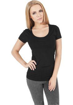 Urban Classics Ladies Basic Viscon Tee Damen T-Shirt Schwarz