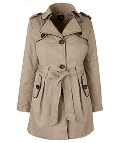 With Spring in the near (hopefully) future, a trench coat is perfect. The tan and black piping paired with a classic silhouette.
