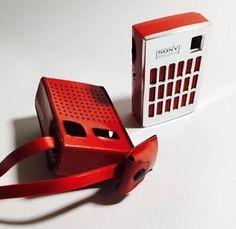 RADIO Vintage portatile transistor SONY SOLID STATE 32 2R Rossa Anni '60   eBay