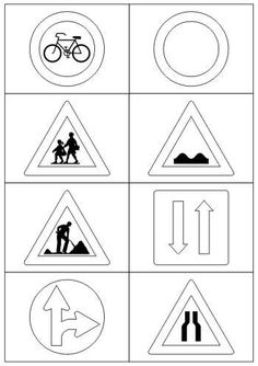Verkehrszeichen Educational Activities, Classroom Activities, Life Skills, Kids Learning, Einstein, Worksheets, Coloring Pages, Transportation, Kindergarten