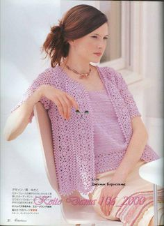 images of crochet tops patterns for free | Crocheted Fashion for women: top and cardigan patterns