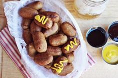 mini corn dogs// tailgates recipes