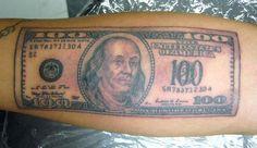 100 Bill Tattoo | Flickr - Photo Sharing! 100 Tattoo, The 100, Tattoos, Tatuajes, Tattoo, Tattos, Tattoo Designs