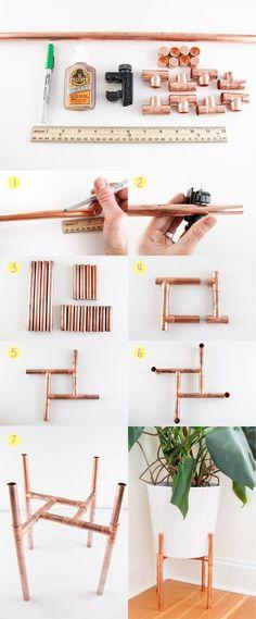 3 DIY usando canos de cobre | Bangalô da Tati