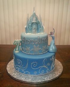 Frozen Cake with Elsa
