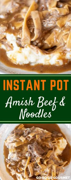 is also easy to make in the slow cooker or crockpot, this Instant Pot Amish Beef and Noodles recipe is even easier! It's one of those comfort foods that families love! Add it to your line up of dinners and casseroles! Top Recipes, Gourmet Recipes, Crockpot Recipes, Cooking Recipes, Best Amish Recipes, Dutch Recipes, Fast Recipes, Drink Recipes, Beef Recipe Instant Pot