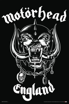 Our women's Motorhead tank top tshirt spotlights the British heavy metal band's classic War Pig Snaggletooth logo. Formed in 1975 by Ian Fraser Lemmy Kilmister, Motorhead became a major inspiration fo Heavy Metal Bands, Heavy Metal Music, Thrash Metal, Metallica, Rock Posters, Band Posters, Lemmy Kilmister, Hery Potter, War Pigs