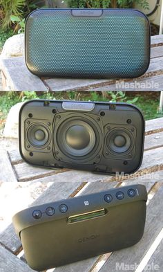 The Denon Envaya DSB-200 is a portable Bluetooth speaker that has replaceable grille covers.
