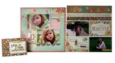 Layout ideas using the Simple Stories Fabulous line from @Crafts Direct. Click through image for more layout ideas.