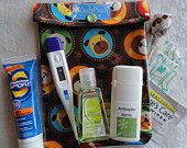 Medium Ouch PouchTM Clear First Aid Organizer for Travel Diaper Bag Purse Car Tackle Box ( 5x7 Catch of the Day Fabric ) Dad Father's Day. $8.95, via Etsy.