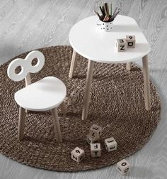 With its semi-circle shape, our Half-Moon Table assures that your little ones wo… - Gardinen ideen Half Moon Table, Home Furniture, Furniture Design, Plan Toys, Single Chair, Circle Shape, Made Of Wood, Home Goods, Modern Design